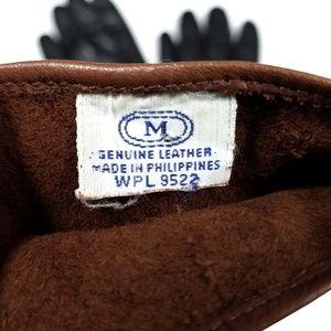 Vintage Accessories - Vintage Leather Short Wrist Gloves